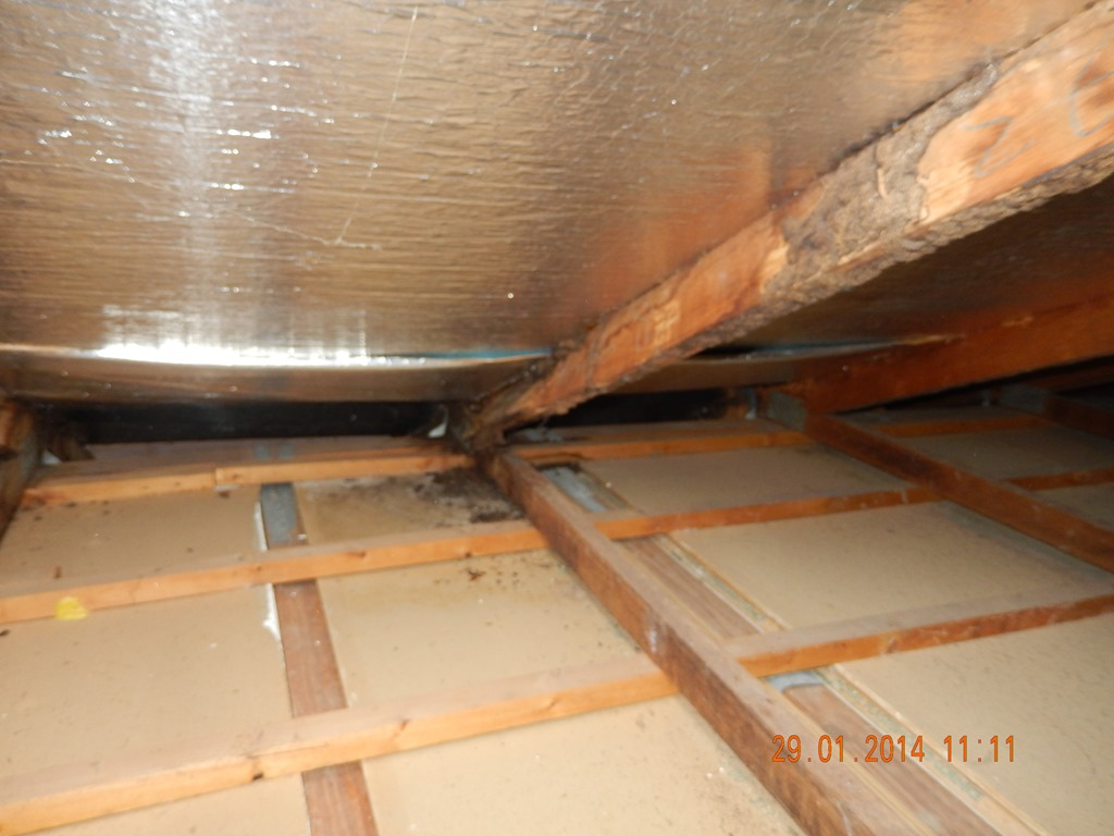 Replacing Termite Damaged Ceiling Joists
